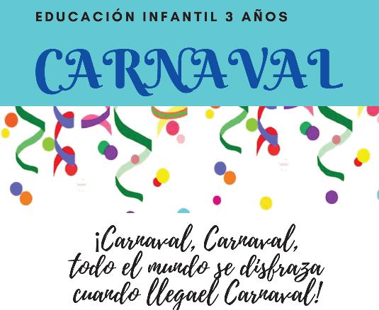 Carnaval, 3 años infantil
