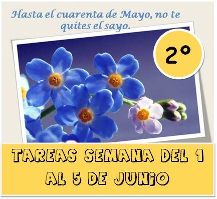 2º  TAREAS DEL 1 AL 5 DE JUNIO